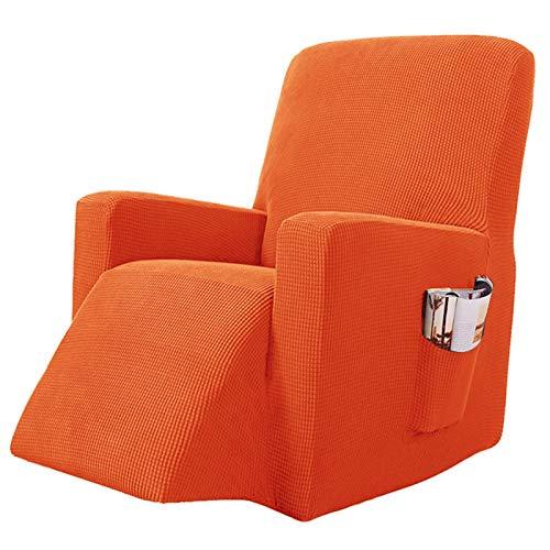YRRA Alta Elasticidad Todo Incluido Funda de sofá, Color sólido Tejido Jacquard Funda de sofá Lavable Sofá Cubierta Protectora, para la Sala de Estar Perro Mascota Protector de Muebles,Naranja