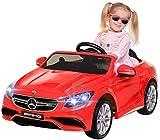 Kinder Elektroauto Mercedes Amg S63 - Lizenziert - 2 x 45 Watt Motor – Ledersitz - Sd-Karte – Usb - Mp3,- 12 Volt 10AH – Rc 2,4 Ghz Fernbedienung - Elektro Auto für Kinder ab 3 Jahre (rot)