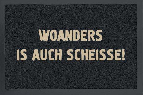 empireposter Woanders ist auch scheiße! - Fussmatte, Größe: 60 x 40 cm, Material Polypropylen