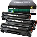 LINKYO Compatible Toner Cartridge Replacement for Canon 128 (Black, 3-Pack)