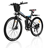 Folding Electric Bike For Adults, VIVI Folding Electric Mountain Bicycle 26 inch E-bike 350W Motor Professional SHIMANO 21 Speed Gears with Removable36V 8Ah Lithium-Ion Battery