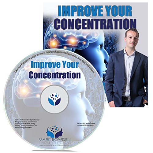 Improve Your Concentration Self Hypnosis CD / MP3 and APP (3 IN 1 PURCHASE!) - Hypnotherapy CD for Improving Focus and to Improve Concentration. Never lose Focus