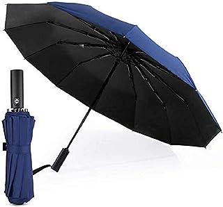 Auto Open/Close Folding Travel Umbrella, Compact Lightweight Umbrella, Fast Drying, Reinforced Windproof Canopy Frame, Sli...
