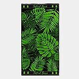 TEXTIL TARRAGO Telo mare 90 x 170 cm 100% cotone egiziano foglie tropicali EGP465