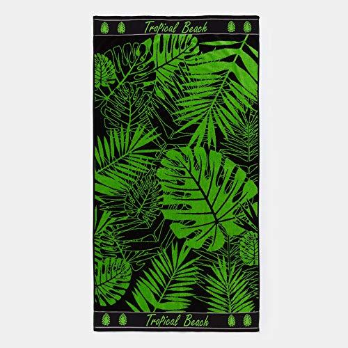 Textiel Tarrago strandhanddoek 90 x 170 cm 100% Egyptisch katoen tropische lakens EGP465