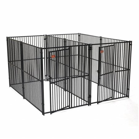 Lucky Dog European Style Modular 2 Run (Side by Side) Kennel w/Common Wall 5'W x 10'L x 6'H