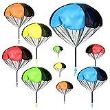Zuzer Juguete de Paracaídas, 10PCS Juguete Paracaídas Set Juguete del Paracaidista,Muy Buenos Juguetes Al Aire Libre de Los Niños Pueden Ser Utilizados como Regalos para Los Niños