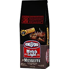 Kingsford Match Light Charcoal with Mesquite 5.9 LBS No Lighter Fluid Needed Easy Lighting Ready to cook on in about 10 minutes