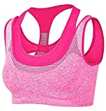 Fems Present Racer Back Sports Bras - Padded Seamless High Impact Support
