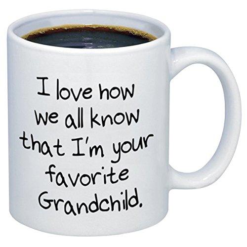 P&B I Love How We All Know I'm Your Favorite Grandchild Ceramic Coffee Mugs PB213 (11 oz.)