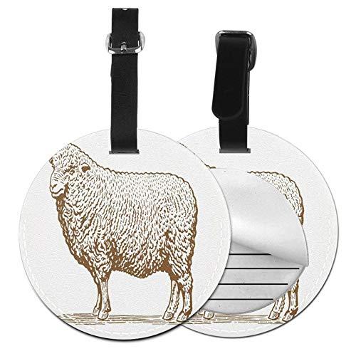 Luggage Tags Wool Sheep Ewe Suitcase Luggage Tags Business Card Holder Travel Id Bag Tag