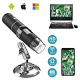 Moko WiFi Digital Microscope, 1080P HD 2MP Camera, 50x to 1000x Magnification Mini