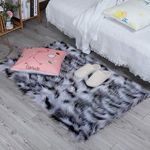 ZPX Alfombra mullida, Alfombra de Piel de Oveja,Alfombra de Piel sintética,universales alfombras...