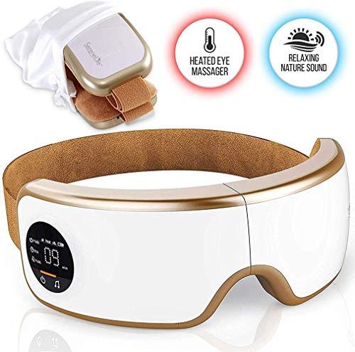 BPQ Drucktherapie Elektrische Augenmassagegerät Drahtlose Digitale Maskenmaschine Mit Heißer Kompression Eingebauter Batterie Und Verstellbarem Gummiband