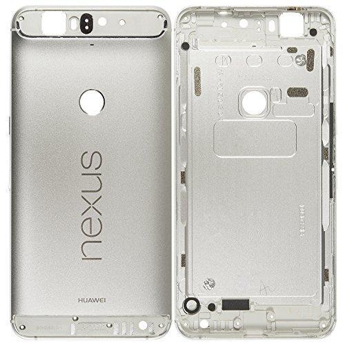 Unbekannt Original Huawei Akkudeckel Silver/Silber für Huawei Nexus 6P (Akkufachdeckel, Batterieabdeckung, Rückseite, Back-Cover)