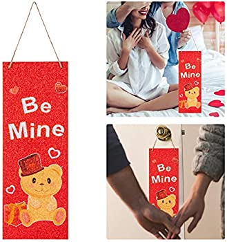 15.7 x 5.9 Inches Valentine's Day Vertical Wall Sign Wooden Plaque Plank
