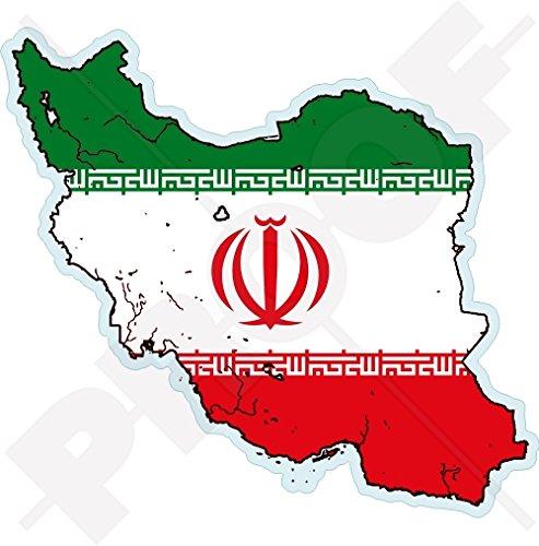 IRAN Islamic Republic Map-Flag, Perzië IRANINA, Perzisch 4.3