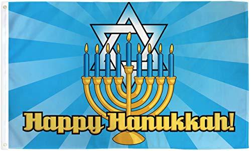Vista Flags 3x5 Happy Hanukkah Flag Jewish Holiday Decoration Banner Party Pennant
