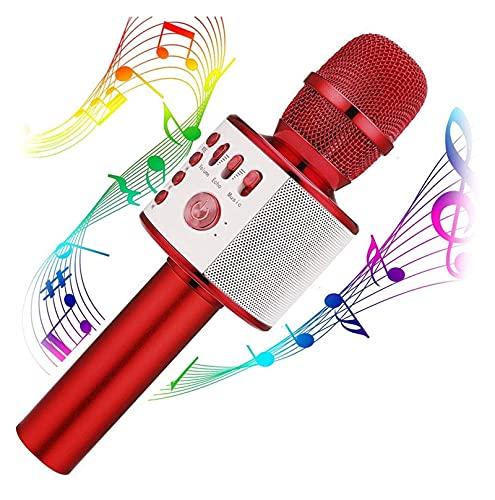 Mdjywl Microfono Wireless Karaoke, 3-in-1 Portatile Incorporato in Altoparlante Bluetooth per Android / iPhone / iPad / Sony /, PC o Tutti Gli Smartphone j