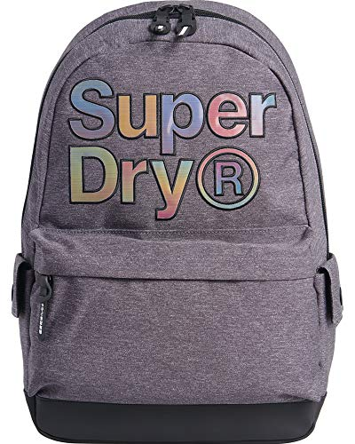 Superdry Women's Rainbow INFILL Montana Backpack, Grey Marl