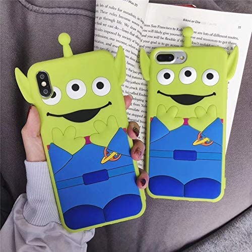 [MOQINO] iPhone Cover Soft Silicone Alien Buzz Lightyear Toy Story Soft Case Cover (Alien,iPhone 7 Plus/8 Plus)