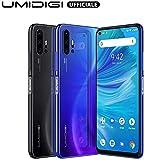 UMIDIGI F2 SIMフリースマートフォン Android 10.0 FHD+ 6.53インチ全画面 パンチホールディスプレイ 48MP+13MP+5MP+5MPクアッドリアカメラ 128GB ROM + 6GB RAM Helio P70オクタコア 5150mAh大容量バッテリー 18W高速充電 顔認証 指紋認証 技適認証済 au不可 (ブラック)