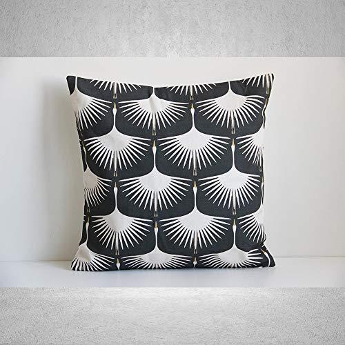 Federa per cuscino decorativo per mamma e papà volanti in oca selvatica – federa per cuscino decorativo – federa per cuscino in lino e cotone, 18 x 18 cm