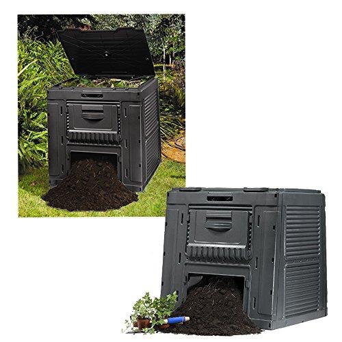Keter 17186236 Komposter E-Composter 470 L, Kunststoff, schwarz