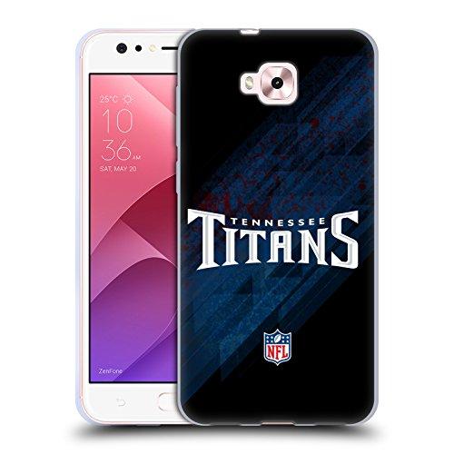 Head Case Designs Oficial NFL Desenfoque Logotipo de Titanes de Tennessee Carcasa de Gel de Silicona Compatible con Zenfone 4 Selfie ZD553KL