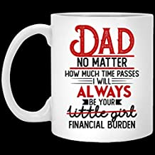 Dad No Matter How Much Time Passes I Will Always Be Your Financial Burden Ceramic Coffee Mug