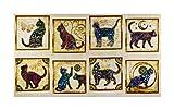 Fabric & Fabric QT Fabrics Purr-Suasion Cat Patches 24' Panel Cream