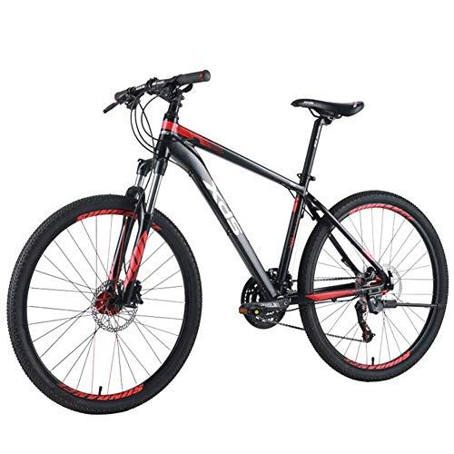 Bicicletas de montaña para adultos de 26 pulgadas, Bicicleta de montaña de 27 velocidades, Bicicleta de montaña rígida con marco de aluminio para hombres, Bicicletas de montaña de doble suspensión par