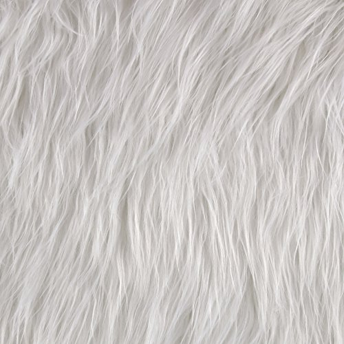 Shannon Fabrics Shannon Faux Fur Gorilla White Fabric By The Yard