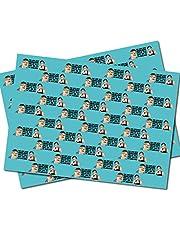 Piątkowy obiad noc 2 arkusze papieru do pakowania opakowanie na prezent dla dorosłych z bezczelnym poczuciem humoru - składany, wysokiej jakości owijka WRAP 12