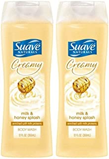 Suave Naturals Creamy Body Wash - Milk & Honey Splash - 12 oz - 2 pk