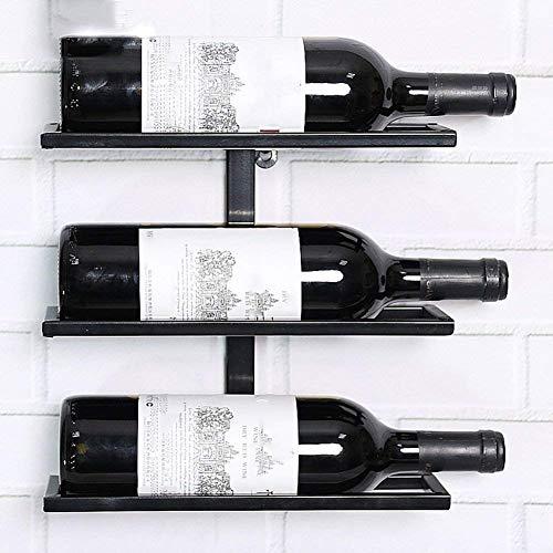 Pkfinrd Wijnglas Houder Art Display Planken Af en toe Sipper Wijnkenners Collectie Modern Design Elegant Manier Grote Gift Rack Iron Gift (Maat: 2 fles)