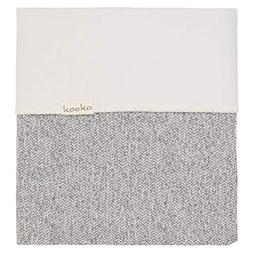 Koeka Bettdecke Flanell Für Baby-/kinderbett Vigo Sparkle Grey/pebble 100x150