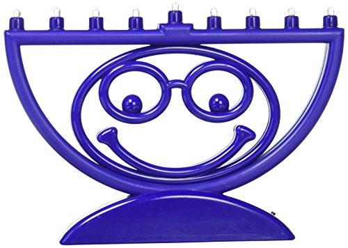 Rite Lite Chanukkah MENOJI Menorah, LED Makes You Smile Electric Menorah Unique Hanukkah Menorah 8.75'