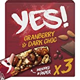 Yes! Barrita De Frutos Secos Con Cobertura De Chocolate Negro y Arándanos Rojos - 3 x 35G 1 Unidad 105 g