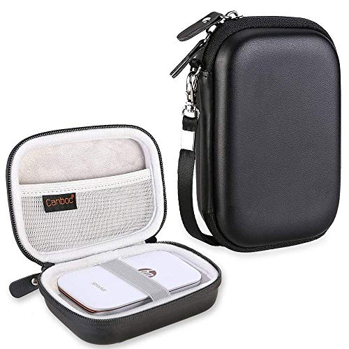"""Canboc Protective Carrying Case for HP Sprocket Select Portable 2.3x3.4 Instant Photo Printer, Kodak Mini 2 HD/Mini Shot/Victure 2x3"""" Portable Photo Printer, Travel Hard Case Bag Pouch, Black"""