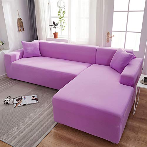 kengbi Easy To Install And Comfortable Sofa Cover Sofa Cover,Grey Color Sofa Cover Stretch Elastic Sofa Covers For Living Room Copridivano Couch Covers Sectional Corner L-shape Sofa Cover