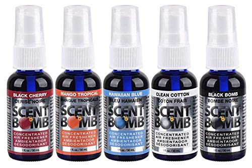 Scent Bomb 100% Concentrated Air Freshener Car/Home Spray [Choose The Scent] (Mix #1, 5 Bottles)