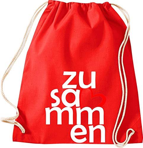 Shirtstown - Bolsa de deporte (bolsa de gimnasio, bolsa de deporte, bolsa de deporte, bolsa de deporte, bolsa de deporte, bolsa de deporte, bolsa de deporte, bolsa de deporte, bolsa de deporte, bolsa de deporte, bolsa para agradecimiento, cohesión, emergencia, sociedad), color rojo, tamaño 37 cm x 46 cm