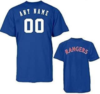 Texas Rangers Custom Licensed Replica Jersey Tee