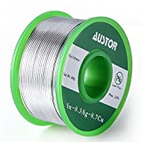 <span class='highlight'><span class='highlight'>Austor</span></span> 0.8mm Lead Free Solder Wire with Rosin Core, Sn 99% Ag 0.3% Cu 0.7%, 100g