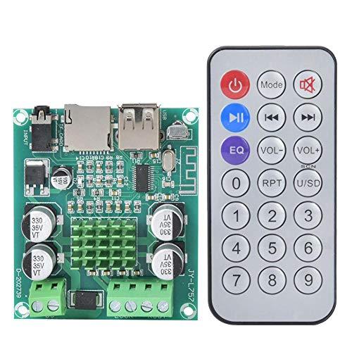 Placa amplificadora de doble canal para Bluetooth 5.0 con soporte de control remoto Memoria U Disco AUX para cine en casa