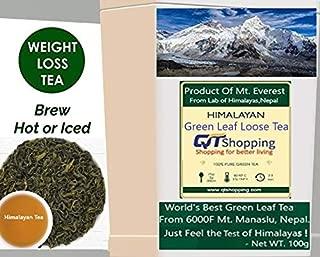 SNOW HILL HIMALAYAN, Organic Green Tea Leaves From Himalayas, Nepal -100% Natural Sun Dried Tea, POWERFUL ANTI-OXIDANTS, Brew Hot Tea Iced Tea or Kombucha Tea Loose Leaf Green Tea - 200g |100 Cups
