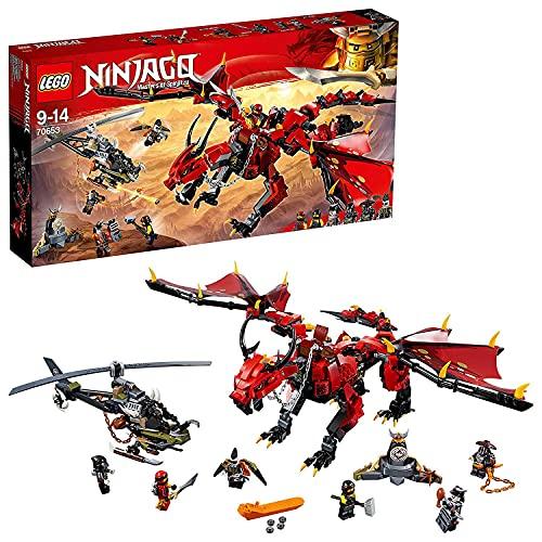 LEGO®-NINJAGO® Le dragon Firstbourne Jeu pour Enfant 9 Ans et Plus, Briques de Construction Garçon et Fille, 882 Pièces 70653