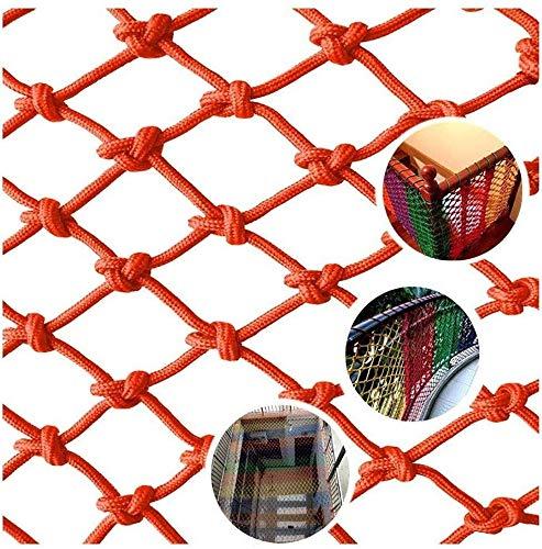 Veiligheidsnet decoratie, kinderblokkering, net, balkondecoratie, nettobescherming, hek, klimmen, woven touw, veiligheidsnet, banister, trappen, nets, tuin, mesh-speelplaats, buffer, kabelnet (kleur: 8 cm x 8 mm, maat: 3