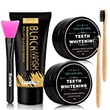 Blackhead Remover Mask + 2 Pack Activated Charcoal Powder Set for Skin Deep Cleansing and Teeth Whitening